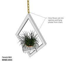 remodelaholic diy west elm modern hanging planter knock