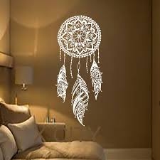 compare prices on feather wall sticker online shopping buy low dream catcher art feather vinyl sticker boho dreamcatcher wall decals for bedroom nursery bohemian american indian