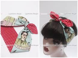 1950s headband 1950s women vintage rockabilly pinup polka dot frida kahlo