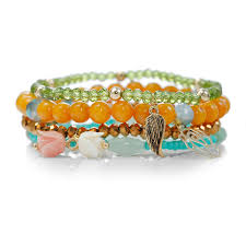 stackable bracelets beaded stackable bracelet multi charms bracelet set