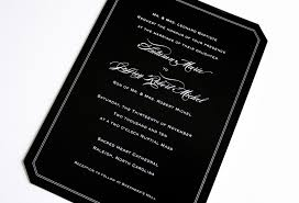 and black wedding invitations black wedding invitations with white lettering emdotzee designs