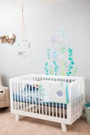 Babyletto Hudson 3 In 1 Convertible Crib by Beach Town Blonde Under The Sea Nursery