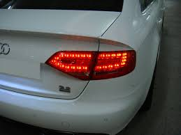 audi a4 tail lights depo euro spec rs4 look led red clear tail light for 09 12 audi a4