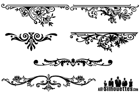 vector floral ornaments graphic design 123freevectors