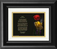 amazon com framed personalized friend gift tulips photo with