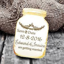 rustic save the date magnets wedding save the date magnets jar leaves rustic