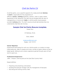 culinary resume templates chef sample cooking exa saneme chef