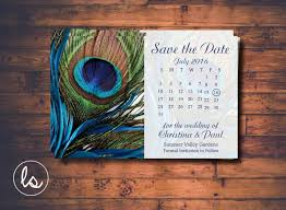 Postcard Save The Dates Peacock Save The Date Peacock Feather Calendar Save The Date