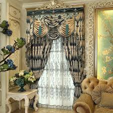 Gold And Blue Curtains Elegant Living Room Curtains Intended For Luxury Curtains For