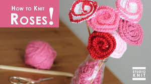 how to knit rose flowers summer knit series youtube