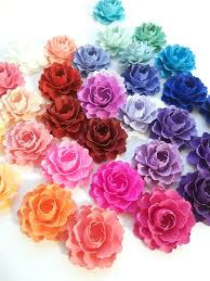 paper flowers 50 confetti blossoms 1 paper flowers in custom colors