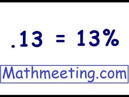 percent to decimal decimal to percent