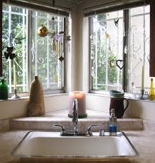 Kitchen Window Curtains Ideas by Corner Window Structural Design Interior Windows Curtains