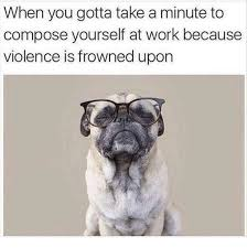 Frowning Dog Meme - when you gotta take a minute to compose yourself at work because