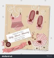 scrapbook baby shower invitation template vector stock vector