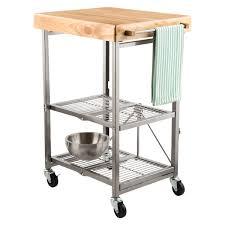 origami folding kitchen island cart kitchen cart origami kitchen cart the container store