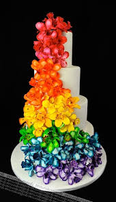 rainbow wedding cake www thegailygrind com rainbows are