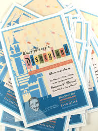 disneyland themed birthday party invitation disney party o