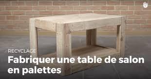 fabriquer un bureau en palette fabriquer une table de salon en palette recycler