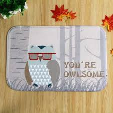 Owl Kitchen Rugs Sale Fashion Carpet Toilet Anti Slip Rug Porch Doormat