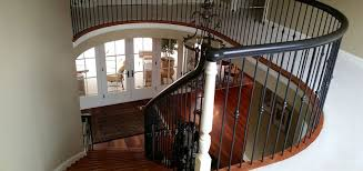 Mahogany Banister Skippack Spectactular Custom Finishes