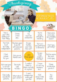 thanksgiving bingo for single in hell cafemom