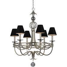 chandelier magnets af lighting mischief 5 light black metal chandelier with black