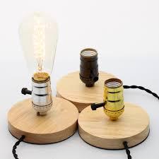 Edison Table Lamp Aliexpress Com Buy E27 Vintage Wood Lamp Base Edison Desk Table