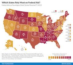 Map Of Northern States Of Usa by Which States Rely The Most On Federal Aid Tax Foundation
