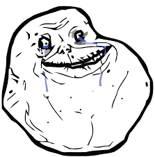 Memes Forever Alone - alone face only