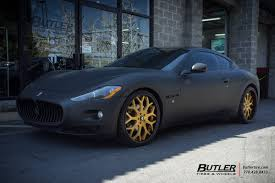 maserati gt matte black maserati granturismo with 22in forgiato capolovaro wheels
