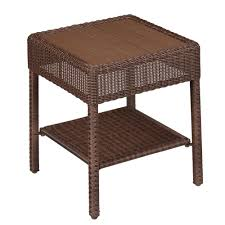 Wicker Accent Table Hton Bay Park Brown Wicker Outdoor Accent Table 65
