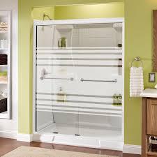 23 Inch Shower Door Delta Mandara 60 In X 70 In Semi Frameless Sliding Shower Door