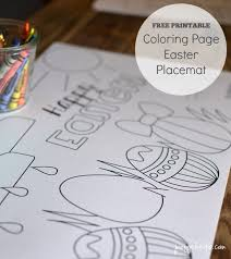 printable easter coloring placemats vanessa craft
