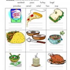 food names worksheet 1