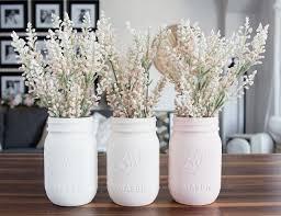 jar vases ombre blush pastel painted jar vases