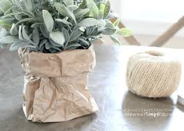 How To Make Planters by How To Make Simple Paper Bag Planters For Spring Somewhat Simple