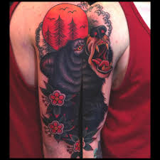 black bear tattoo traditional tattoos