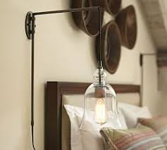 plug in lights for bedroom plug in wall ls plug in sconces pottery barn