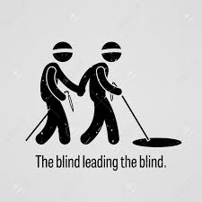 blind the blind leading the blind royalty free cliparts vectors and