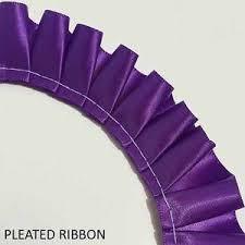 pleated ribbon pleated ribbon box pleat per 5 metre single satin ribbon 10