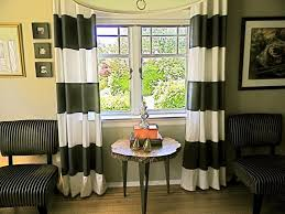 Black Ivory Curtains Black And White Horizontal Thick Striped Curtains Horizontal