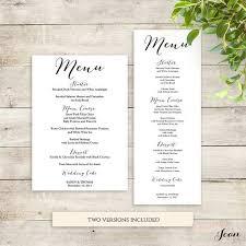 menu templates for weddings the 25 best wedding menu template ideas on wedding