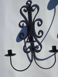 Antique Iron Sconces Wrought Iron Wall Sconces Hanging Chandelier Candle Holders