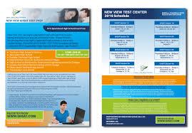 high school web design class bold modern flyer design for new view test centers llc by akash