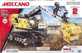meccano 2 in 1 model set excavator and bulldozer 16301 u2013 toys2learn