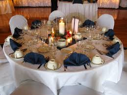 Wedding Reception Centerpiece Ideas Dining Room Navy Blue Table Decorations Plans And Silver Gold Pink
