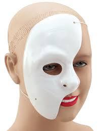 phantom of the opera fancy dress white half face mask theatre