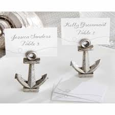 Table Name Cards by Nautical Anchor Place Card Holders Walmart Com