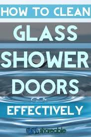 Cleaning Glass Shower Doors With Vinegar Clean Your Shower Doors In Minutes With Essential Oils Soap Scum
